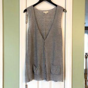 Eileen Fisher 100% Linen Long Knit Sweater Vest
